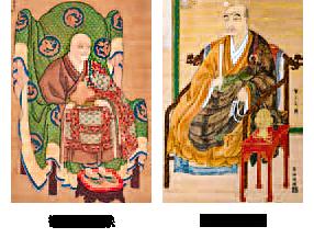 観智国師像と聖冏上人像